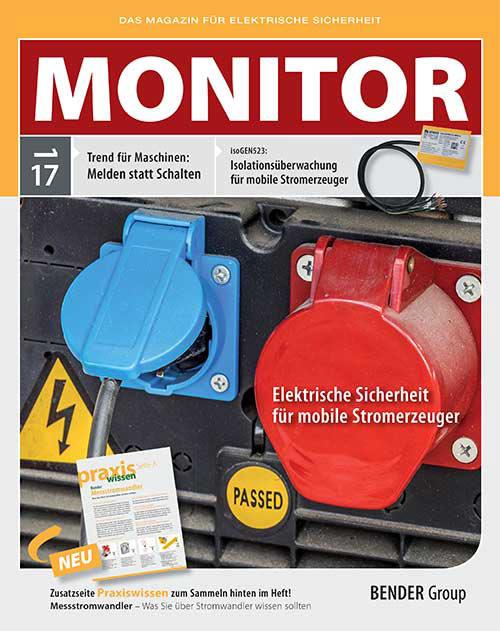 Das aktuelle Magazin für elektrische Sicherheit: MONITOR 1/2017